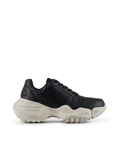 Emporio Armani  Hakiki Deri Ayakkabı Erkek Ayakkabı S X4X324 Xf499 00002 Siyah